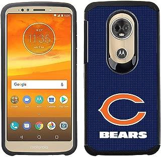 Prime Brands Group Cell Phone Case for Motorola Moto E5 Plus/E5 Supra - NFL Licensed Chicago Bears - Blue Textured Back Cover on Black TPU Skin
