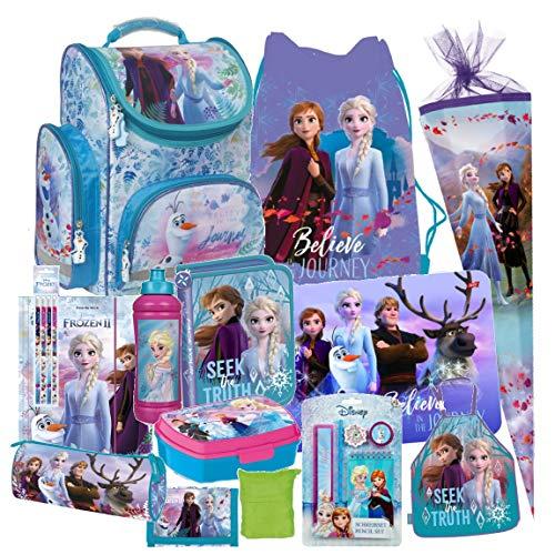 Disney Frozen 2 II EISKÖNIGIN 21 Teile Set Schulranzen RANZEN SCHULTÜTE 85 cm Tornister Federmappe Sporttasche
