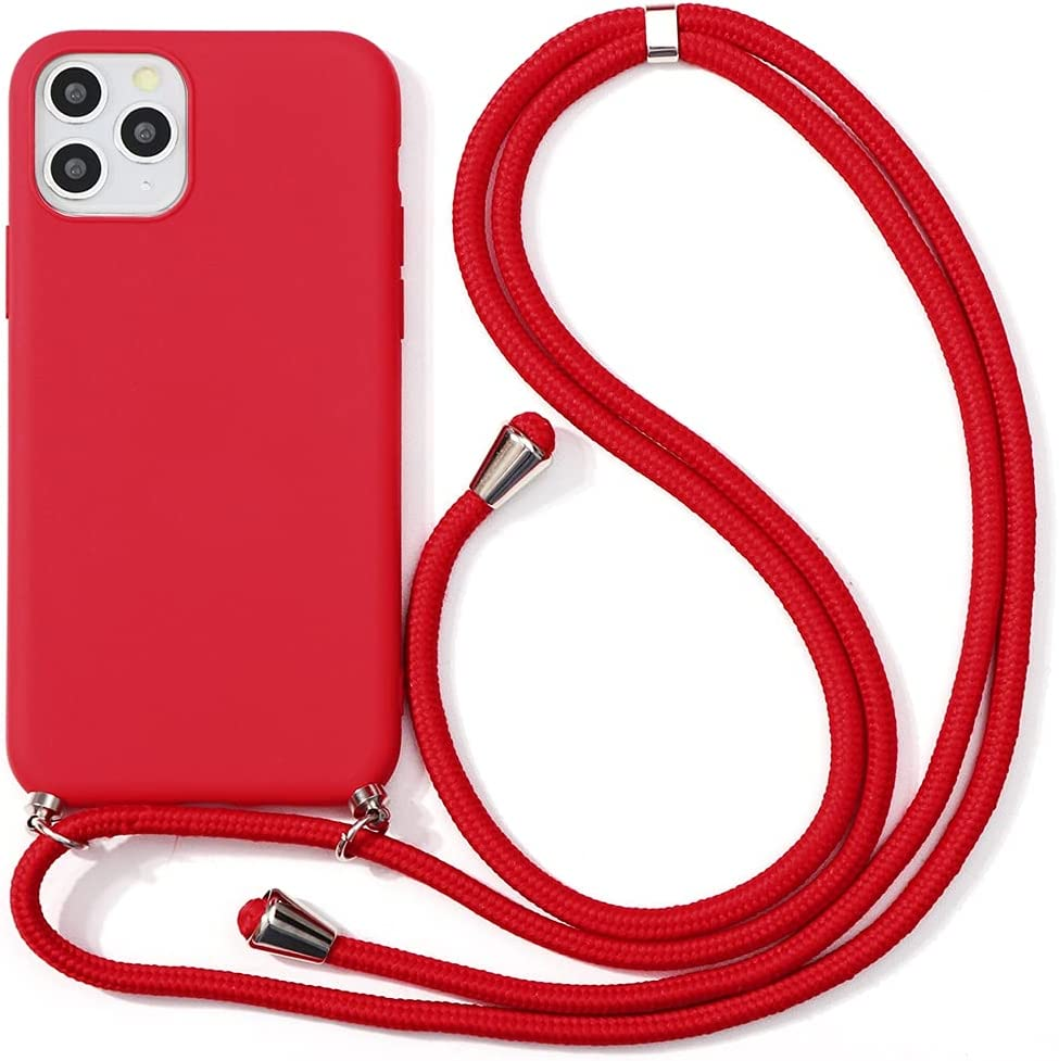 Yoedge Crossbody Case for OnePlus Nord (5G), Neck Cord Phone Case with Adjustable Lanyard Strap, Soft TPU Silicone Shock-Proof Cover Compatible with OnePlus Nord 5G [6.44