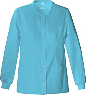 390758286d8 Cherokee Women's Slim-Snap Front Warm-Up Jacket_Blue Wave_Medium,1330