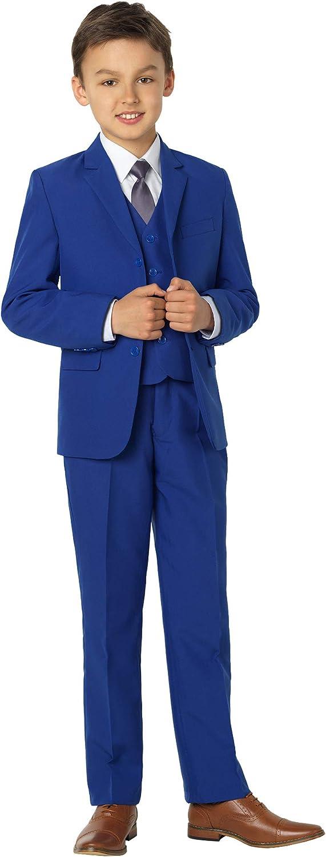 Shiny Penny - Traje azul para niños, traje de niño para boda, traje de graduación, desde 12-18 meses hasta 16 años