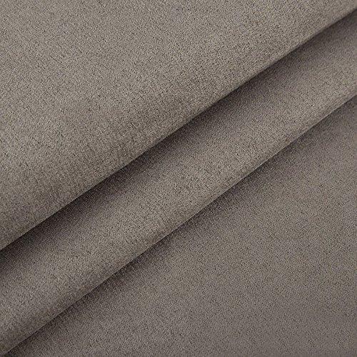 EDGE Nubuk Meterware Microfaser Velours Wildleder Möbelstoff Polsterstoff (27 Grau)