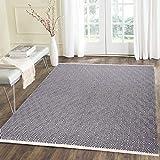 U'Artlines Alfombra de algodón de 1,2 x 1,8 m, reversible, para interiores, alfombra tejida a mano, alfombra de algodón para salón, dormitorio, cuarto de lavado, entrada