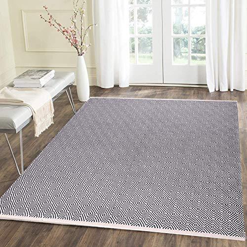 U'Artlines - Tappeto in Cotone, Formato Grande, Dimensioni: 1,2 x 1,8 m, lavabile, per soggiorno, camera da letto, ecc ...