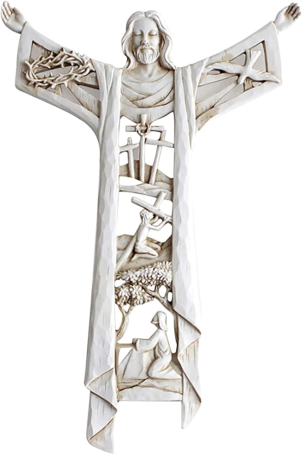 A Risen lowest price Christ Wall Cross Rise Supper Outlet sale feature Easter - Last