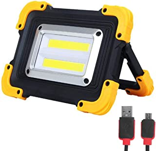 FISHNU Nylon Case Rechargeable Led Work Light,1800 Lumens Led Flood Light,Built-in Lithium Batteries with USB Port to Charge Mobile Devices(Square Cob)