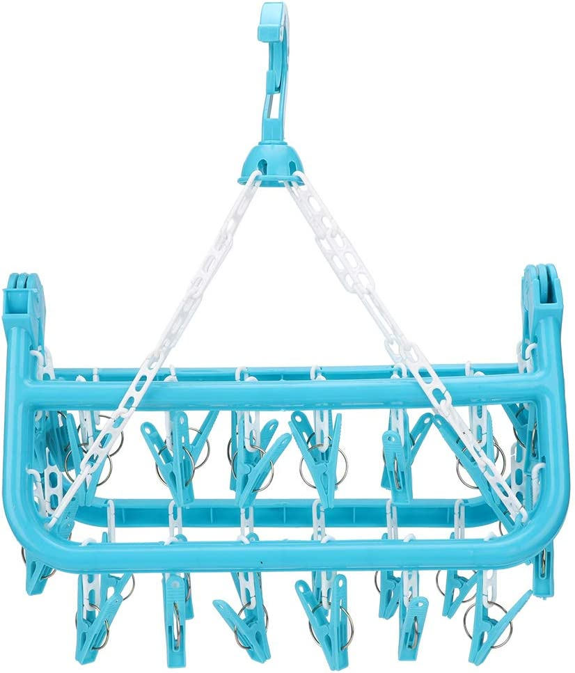 Buachois famous Underwear Hanger with specialty shop 32 Rack Drying Fold Clips Hanging