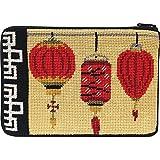 Stitch & Zip Needlepoint Purse Kit- Chinese Lanterns