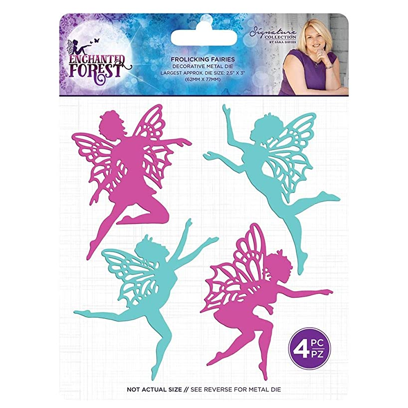 Sara Signature S-EF-MD-FF Enchanted Forest Frolicing Fairies Metal Die, Silver