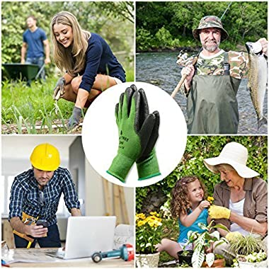 Pine Tree Tools Bamboo Gardening Gloves for Women & Men (Medium)