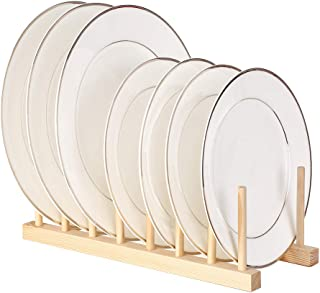 Goolsky Multi-purpose Wooden Dish Rack Dishes Drying Drainer Storage Stand Holder Kitchen Cabinet Organizer for Dish/Plate...