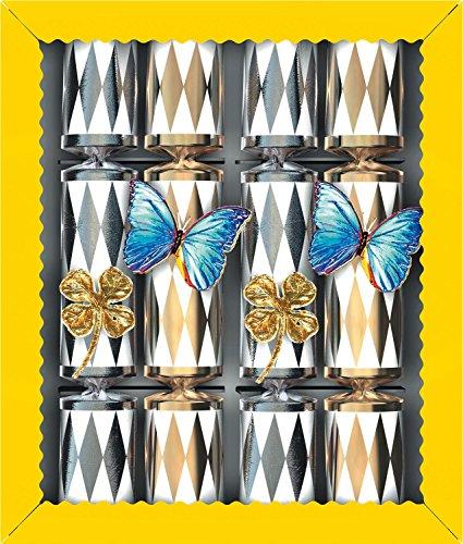 Knallbonbon 22cm 4er Schachtel weiss-gold silber sortiert