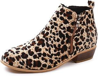 34fba1298a6 Botines Mujer Invierno Tacon Botas Piel Medio Tacon Ancho Ante Botita 3cm  Casual Tobillo Ankle Boots