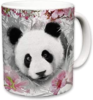 Sweet Gisele | Panda Mug | Bear Inspired Ceramic Coffee Cup | Rich and Vibrant Colors | Perfect Holiday Gift | Dishwasher & Microwave Safe | Great Novelty Item Animal Mugs | 11 Fl. Oz (Multi/Pink)
