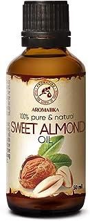 Aceite de Almendras 50ml - Prensado en Frío - Italia - 100% Puro y Natural - Aceite de Base - Cuidado para Cara - Cuerpo - Pelo - Piel