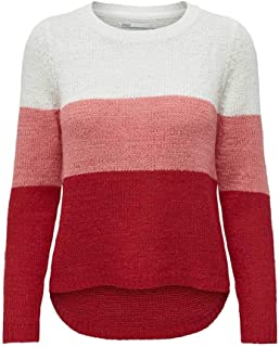 Only Onlgeena L/S Block Pullover Knt Noos Suéter para Mujer