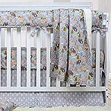 Brandream Crib Bedding Sets for Boys Woodland Bear Fox Arrow Baby Nursery Bedding, 3 Pieces(Blanket + Crib Sheet + Crib Bed Skirt), 100% Breathable Cotton