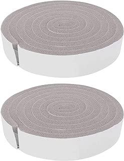 Huakii 2pcs Weather Seal Strip Insulation Tape, Door Window Sponge Foam Draught Excluder