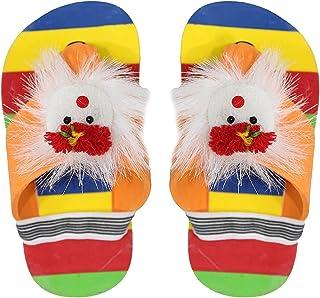 Raaya Kids Casual Footwear Fur Flip Flop Slippers For Boys And Girls (Multicolor 1 Pair 0-2 Year) Pack Of 1