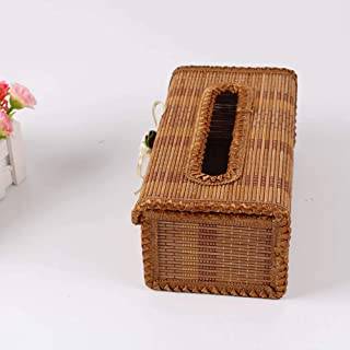 Bamboo Hand-Made Box Tissue Box,Eco-Friendly Material,Suitable for Car/Hotel/Home/Office Tissue Box Holder,2 pcs