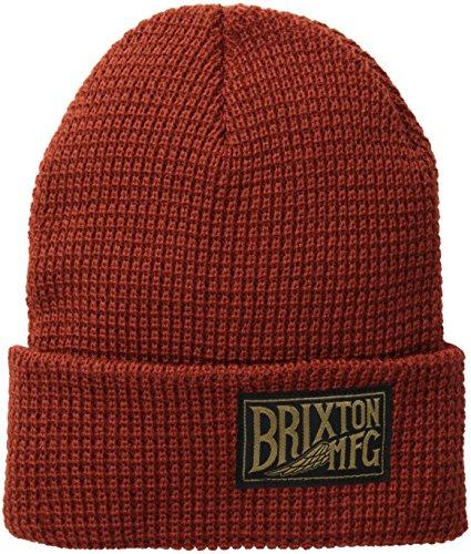 BRIXTON-Beanie Coventry Applique extérieure Taille Unique Rouge - Rouille