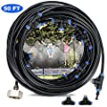 Trampoline Water Play Sprinkler 50 Feet 12 Nozzles for Outdoor Misting Cooling System Kits Summer Game Waterpark Toys Accessories for Kids Patio Garden Greenhouse Lawn