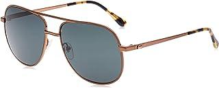 نظارات شمسية بريميوم اند هيريتج للرجال باطار برونزي من لاكوست على شكل نظارات الطيار