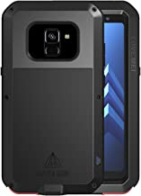 Simicoo Samsung A8 Plus 2018 Aluminum Alloy Metal Bumper Silicone Full body Hybrid Military Shockproof Heavy Duty Armor Defender Tough Back Cover For Samsung Galaxy A8 Plus 2018 (Black, A8 Plus 2018)