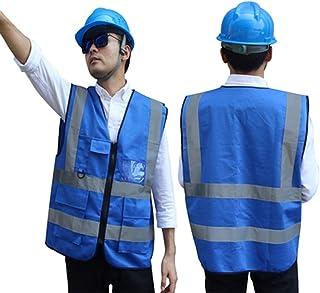 cb833907d59 MMWYC Chaleco de Seguridad de Alta Visibilidad/Personalizado Su Logotipo  Ropa de Trabajo Protectora/