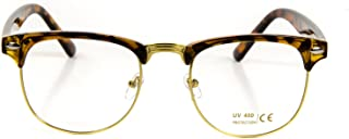 Vintage Nerd Fashion Clear Eyeglasses, Clear Lens Retro Eye Glasses Frames