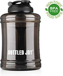 BOTTLED JOY Water Bottle, 2.5L Large Water Jug BPA Free Plastic Sports Water Bottle with Handle Large Capacity and Leakproof Durable Drinking Bottle for Women Men Fitness Camping Bicycle Hiking Gym