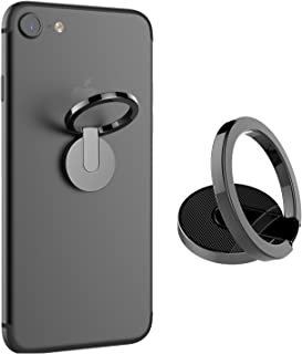 Rose Gold+Silver Mirror Ring Stand 2 Pack,YANIER 360 Rotation Adjustable Universal Cell Phone Ring Holder Magnetic Grip Kickstand for iPhone X 7 8 8 Plus XS Max,Galaxy S9 S8 S8 Plus