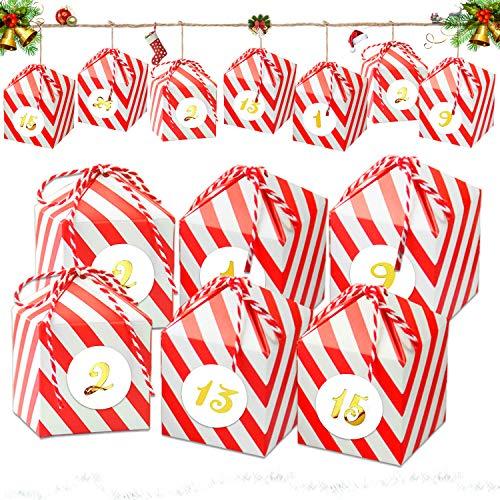 24 Avvento Calendario Avvento,24 Scatole Regalo di Natale,Calendario Avvento Fai da Te,Scatole Calendario dell'avvento,Scatole Regalo di Natale,Scatole in Carta Regalo