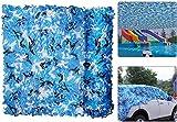 HPJDJXB Toldos Malla Resistente a los Rayos UV Red De Camuflaje Azul Anti-Ultravioleta, Utilizada para Piscina, Jardín, Patio, Decoración Interior Y Exterior | Red De Camuflaje Plegable Impermeable