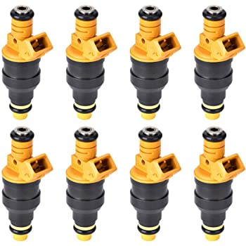 Nice Flow-Matched Set Of 8 Fuel Injectors for FORD Lincoln 5.4L 4 nozzle Best