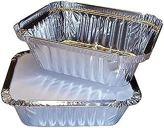 Wang shufang Jetable Goutte à Goutte 50pcs BBQ casseroles en Aluminium Foil Graisse Goutte à Goutte casseroles Recyclable ...