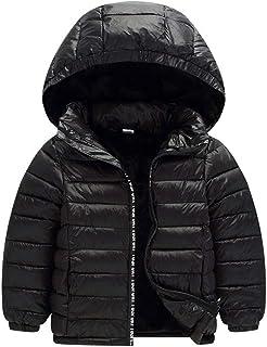 男の子 女の子 パーカー コート 子供たち キルティング フード付き アウターウェア - 冬 ジッパー パック可能 オーバーコート 子供 衣類 Zhhlaixing