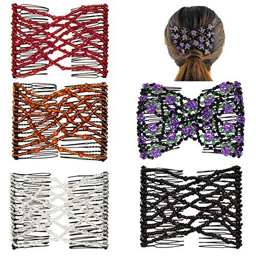 Magic Beads Hair Clips, DIY Magic Stretchable Elegant Hair...