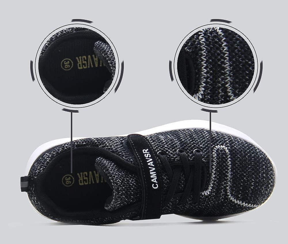 CAMVAVSR Boys Shoes Slip On Outdoor Walking Shoes for Kids Teen School Tennis Sneaker for Girls