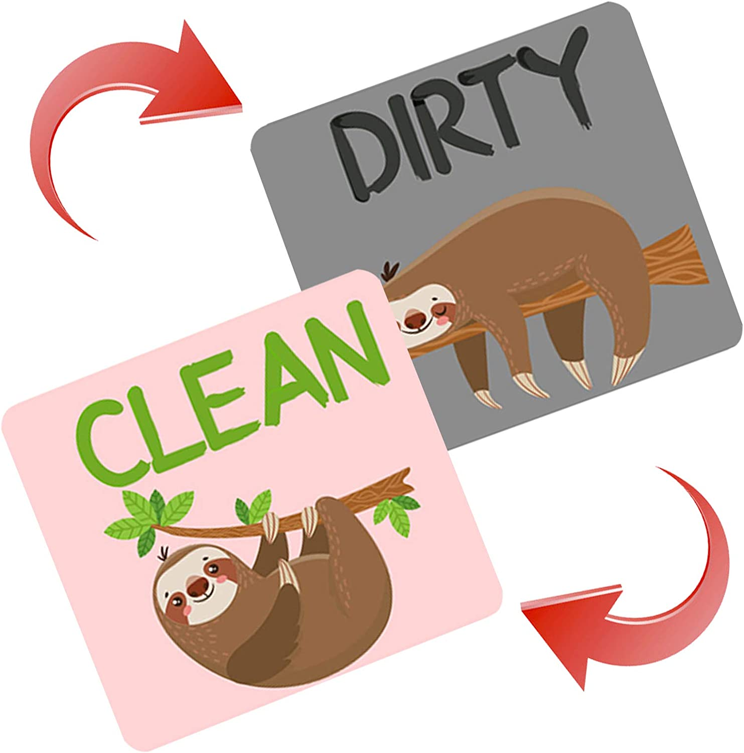 PASHOP Regular store Dishwasher Max 64% OFF Clean Dirty Clea Magnet Sign Signs