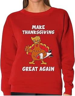 TeeStars - Make Thanksgiving Great Again Donald Trump Turkey Women Sweatshirt