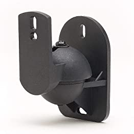 5 Pack of Black Speaker Wall Mount Brackets for Bose, Sony, Panasonic, Samsung and More