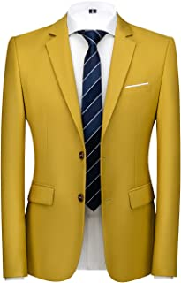 Mens Suit Jacket Slim Fit Sport Coats Blazer for Daily Business Wedding Party