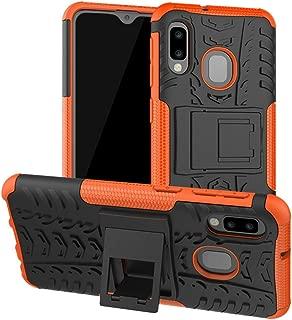 Yiakeng Galaxy A10E Case, Samsung A10e Case, Shockproof Slim Protective with Kickstand Hard Phone Cover for Samsung Galaxy A10E (Orange)