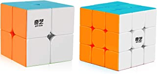 Coogam Qiyi Speed Cube Bundle 2x2 3x3 Magic Cube Set Qidi s 2x2 Warrior W 3x3 Stickerless Puzzle Toy