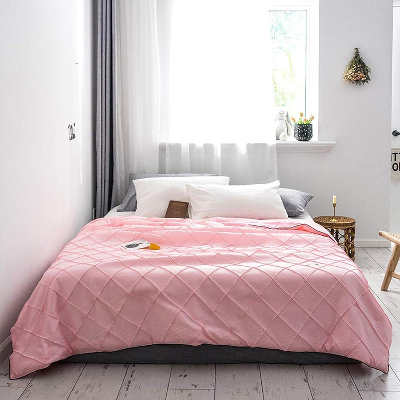 Literie d'été, couette en soie de glace artificielle climatisation, couette, salon, canapé, couverture,rose,200X230cm