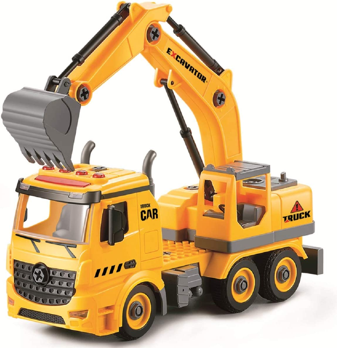 Acksonse Excavator Toys for Boys Kids SALENEW very popular! Powered DIY Cons Cheap mail order specialty store Friction