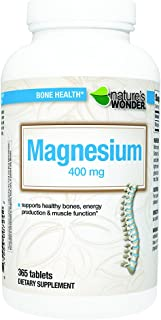 Nature's Wonder Magnesium 400mg Tablets 365 count