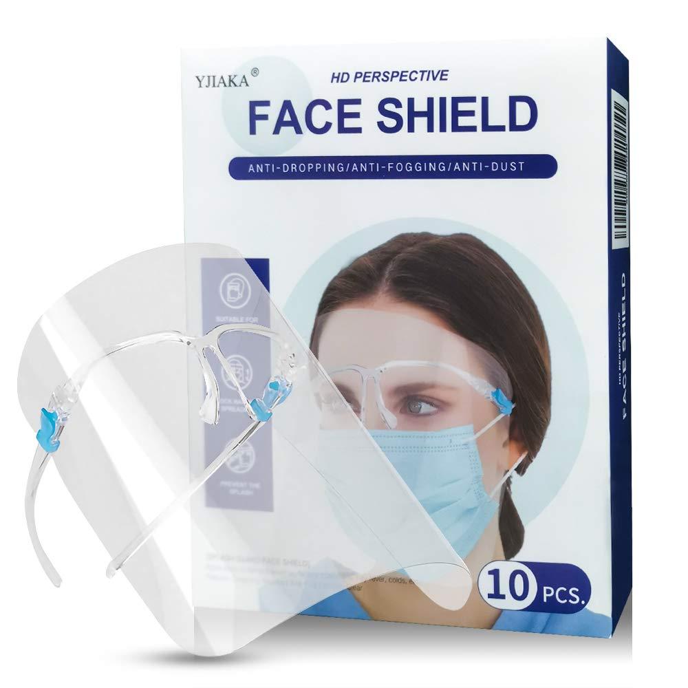 Yjiaka Face Kansas City Mall Finally resale start Shield with Glasses Goggle Frame Saf Reusable
