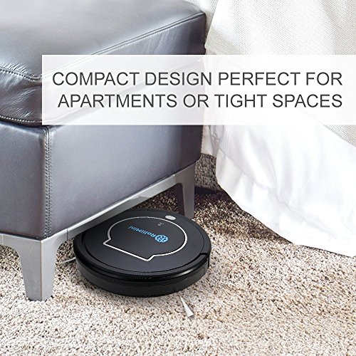 Rollibot Mini BL100 - Quiet Robotic Vacuum Cleaner. Robot Vacuum and Sweeper for Hard Surfaces